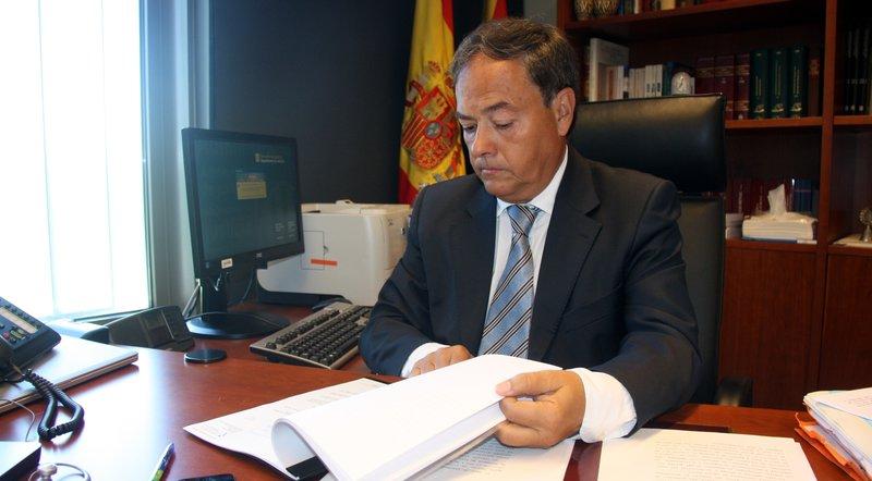 """FERNANDO LACABA. Presidente de la Audiencia de Girona. """"Podría haber unos setenta recursos paralizados""""."""